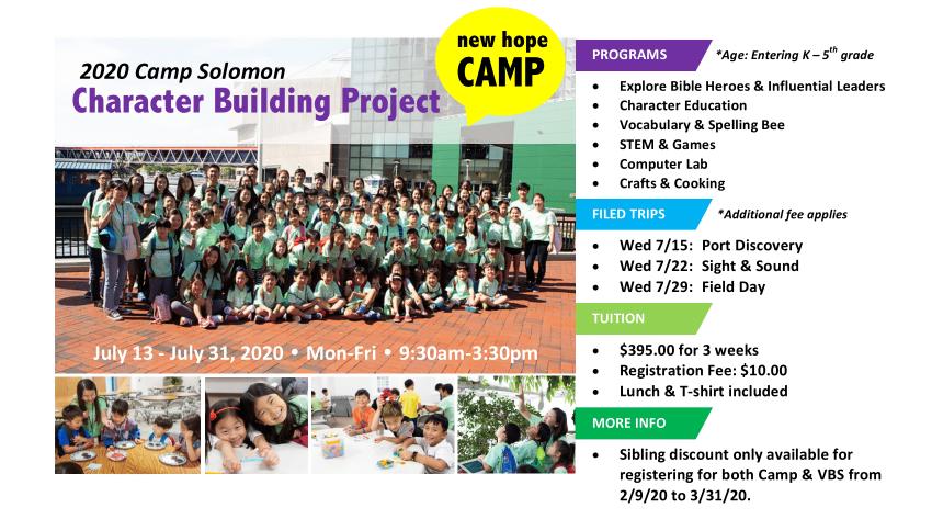 New Hope Camp 2020